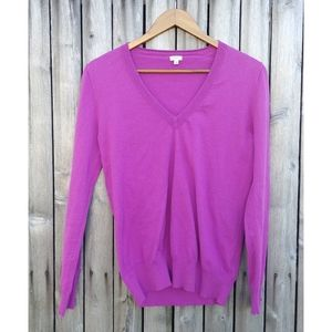 J Crew soft v neck long sleeve pink sweater - M